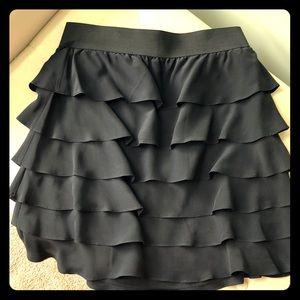 Saks Fifth Avenue silk tiered skirt
